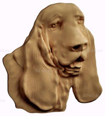 stl модель-барельеф  собака