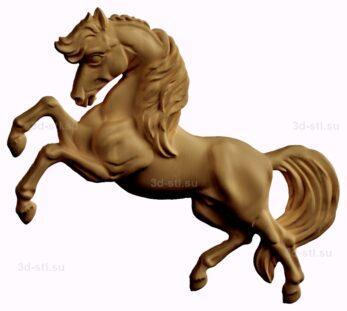stl модель-барельеф  лошадь