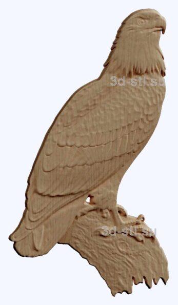 3d stl модель-орел   барельеф с животными № 053