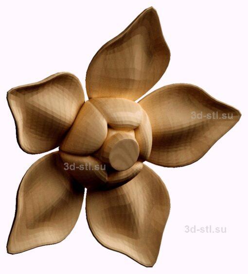 stl модель- Розетка №04