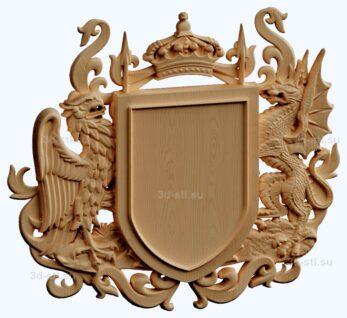 stl модель- Герб фамильный