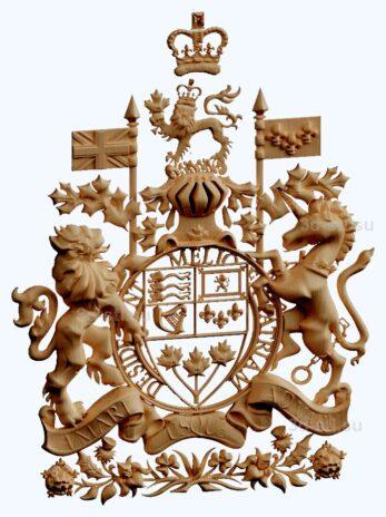 stl модель- Герб Канады