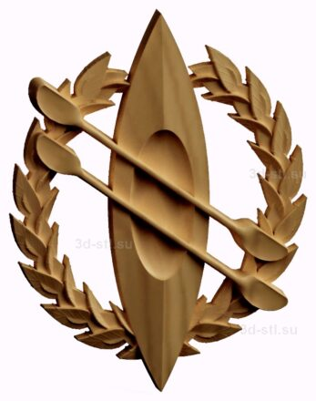 stl модель-Символ байдарка