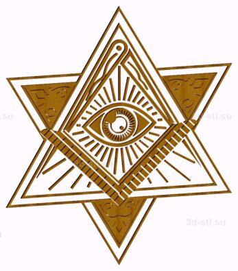 stl модель-Символ Масонский