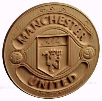 stl модель-Эмблема Манчестер Юнайтед