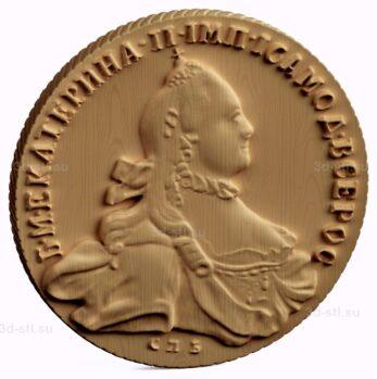 stl модель-Монета Рубли 1764 года