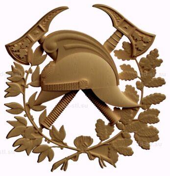 stl модель-Символ Пожарного