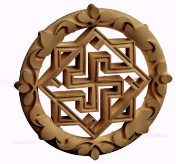 stl модель-Славянский символ Валькирия