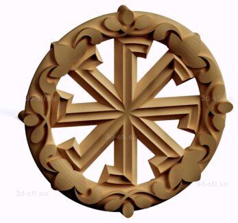 stl модель-Славянский символ Ладинец