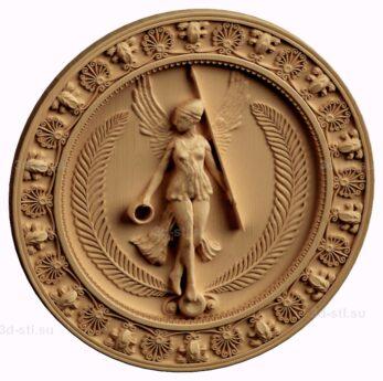 stl модель-Медальон Афина