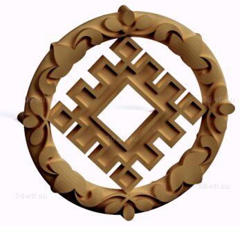 stl модель-Славянский символ Репейник