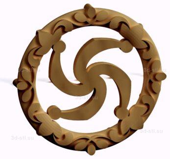 stl модель-Славянский символ Род