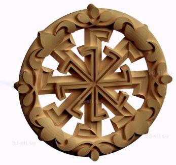 stl модель-Славянский символ Светоч