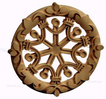 stl модель-Славянский символ Семицветик