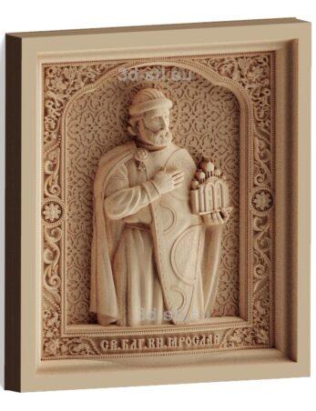 stl модель-Икона Св. князь Ярослав