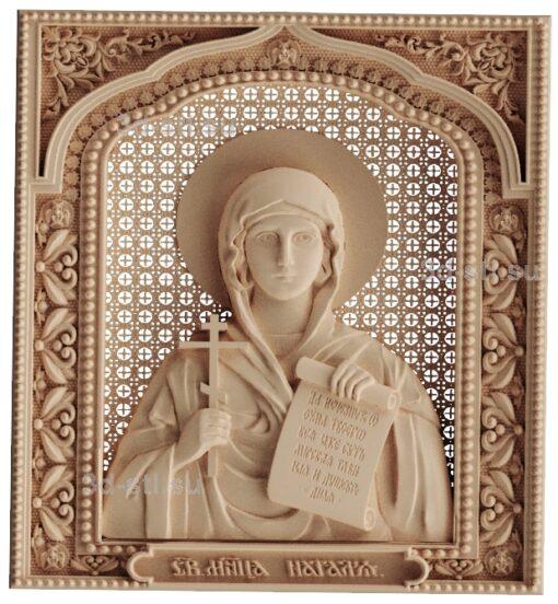stl модель-Икона Св. Наталья