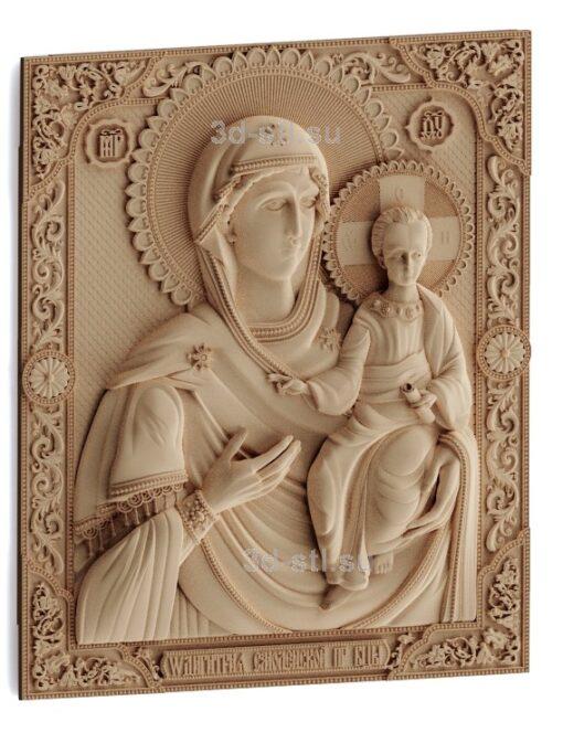 stl модель-Икона Одигитрия — Смоленская икона Божией Матери
