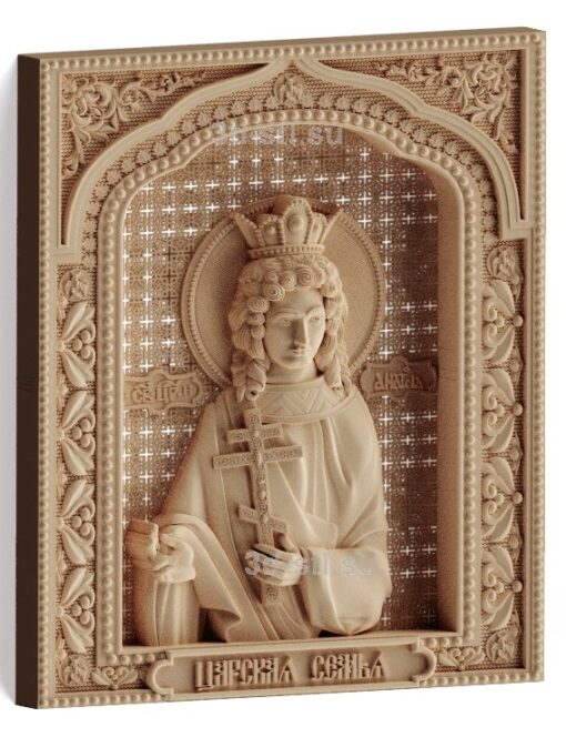 stl модель-Икона Царская семья- Анастасия