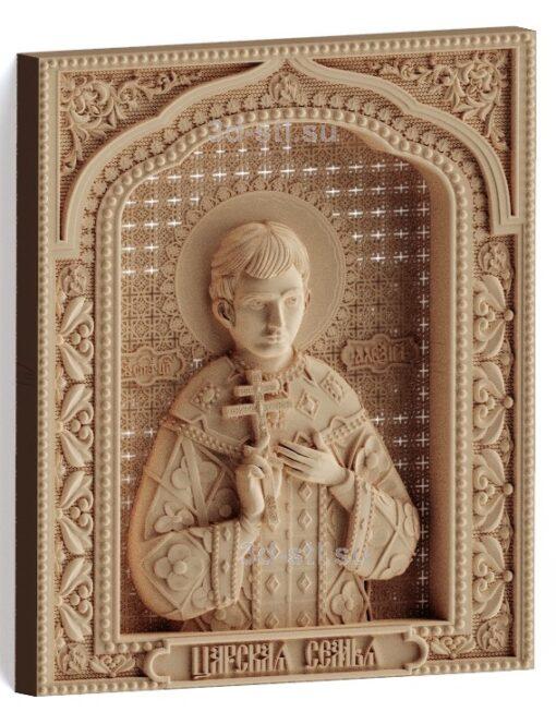 stl модель-Икона Царская семья- Алексий