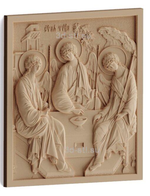 stl модель-Икона Св. Троица Рублева