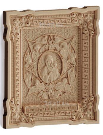 stl модель-Икона Образ Пресвятой Богородицы