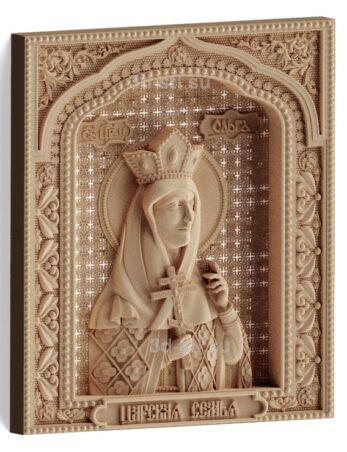 stl модель-Икона Царская семья- Св.Ольга