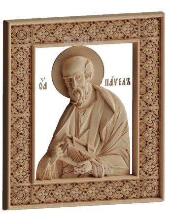 stl модель-Икона Св. Павел