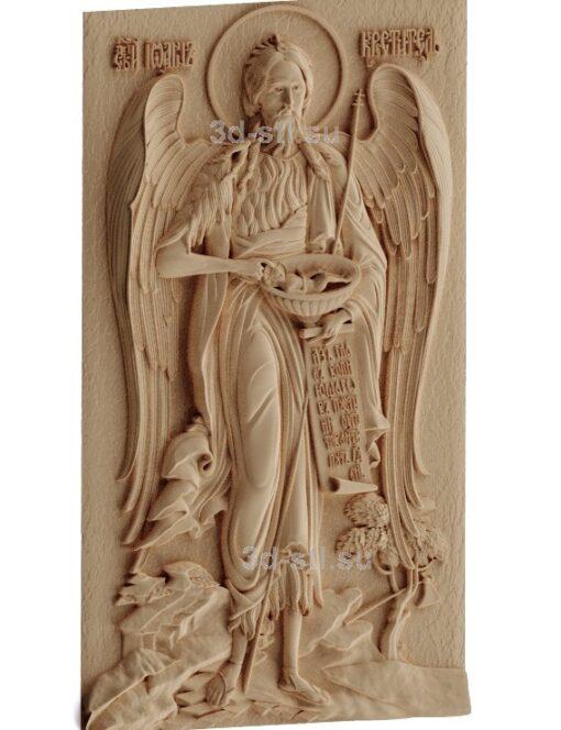stl модель-Икона Св Иоанн Креститель