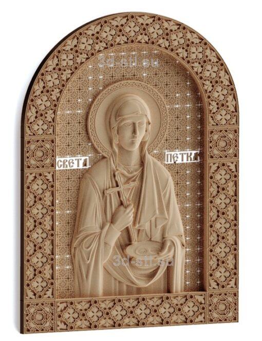 stl модель-Икона Св. Петка