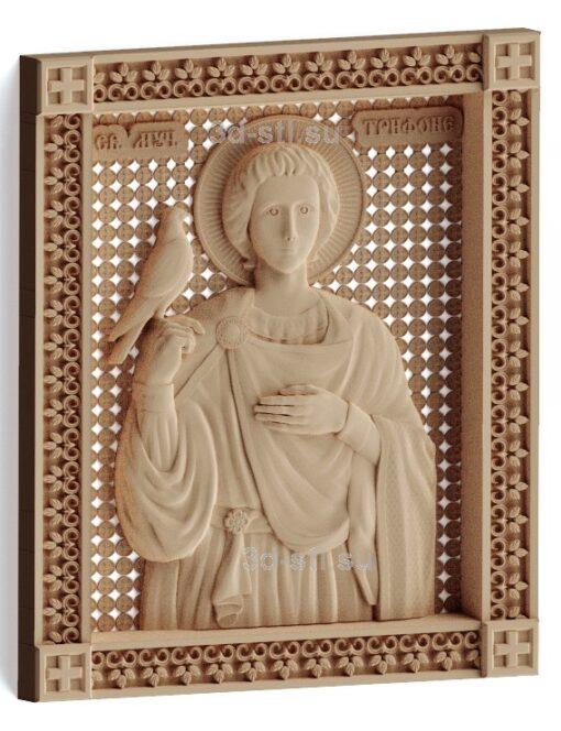stl модель-Икона Св. Трифон