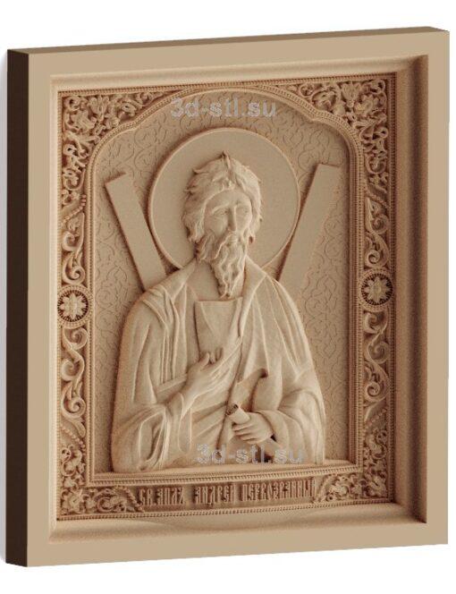 stl модель-Икона Св. Андрей Первозванный