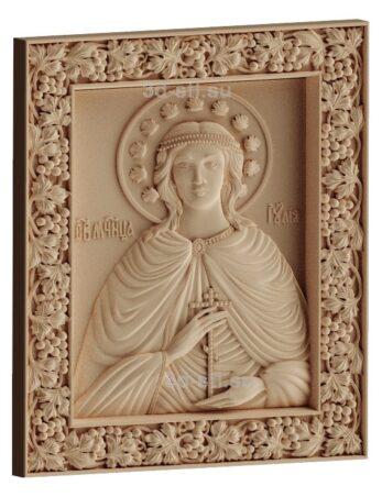 stl модель-Икона Св. Иулия Анкирская Коринфская