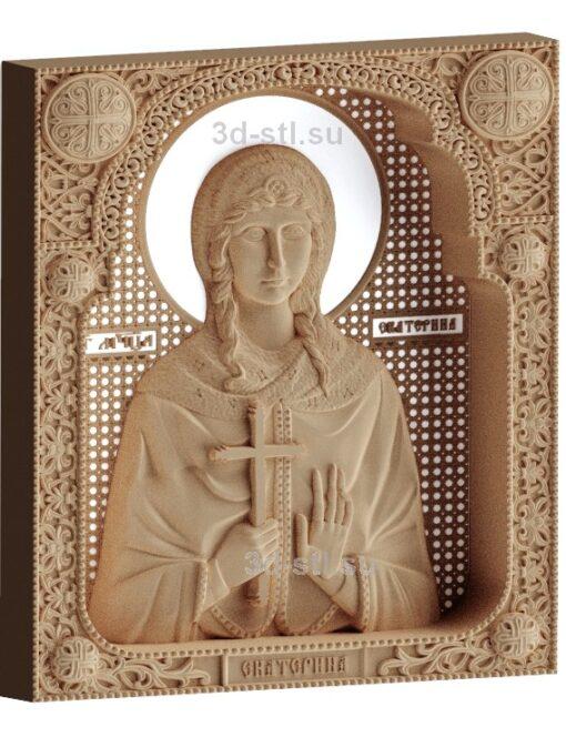 stl модель-Икона Св. Екатерина