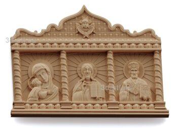 stl модель-Икона Триптих