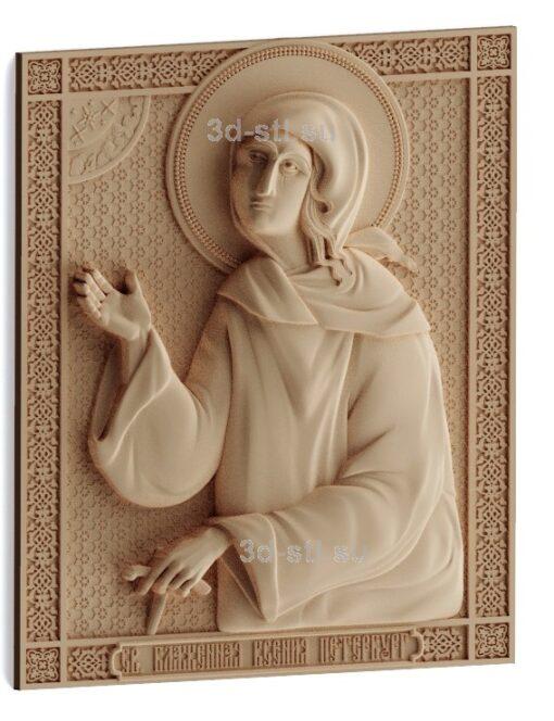 stl модель-Икона Св. Ксения Петербуржская