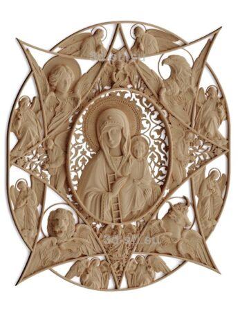 stl модель-Икона Неопалимая Купина