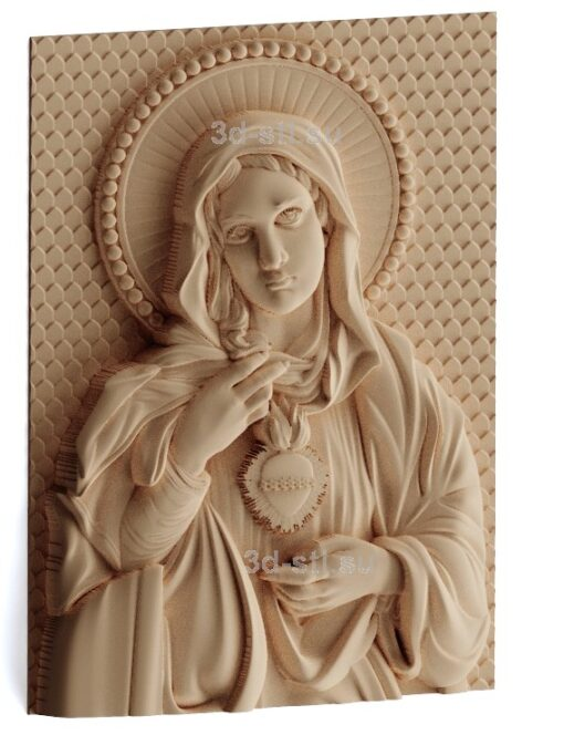 stl модель-Икона Непорочное Сердце Пресвятой Девы Марии