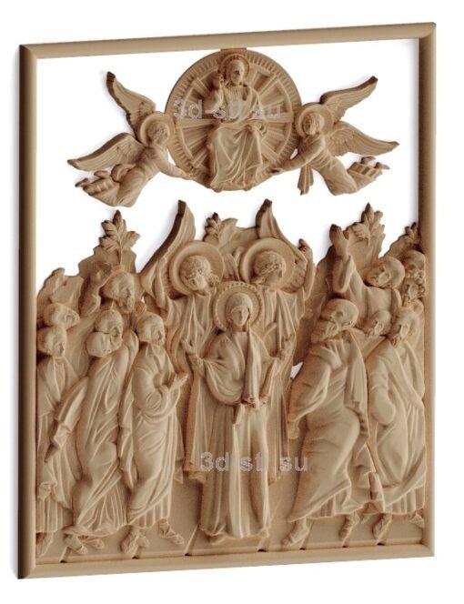 stl модель-Икона Собор Новомученников Вознесение Господне
