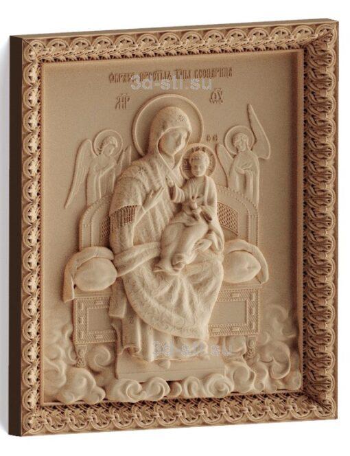 "stl модель-Икона Богородица ""Всецарица"""