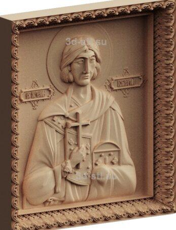 stl модель-Икона Св. Валерий