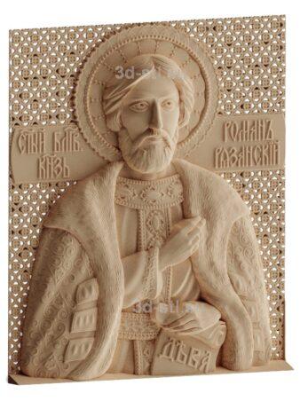 stl модель-Икона Св. князь Роман Рязанский