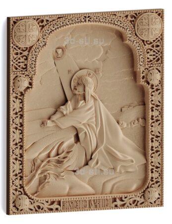 stl модель-Икона Иисус Христос