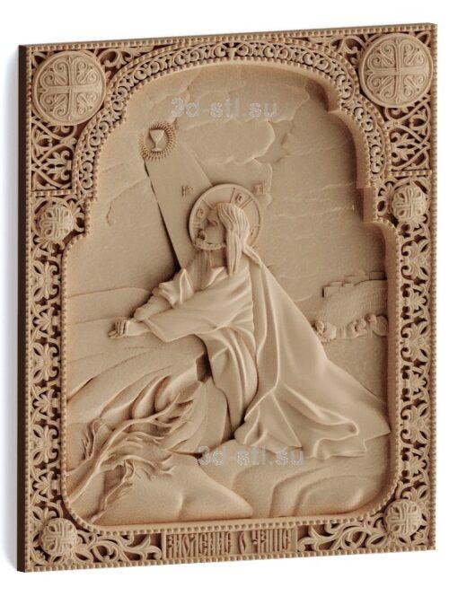 """stl модель-Икона Иисус Христос """"Моление о Чаше"""""""