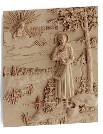 stl модель-Икона Св. Симеон Верхотурский