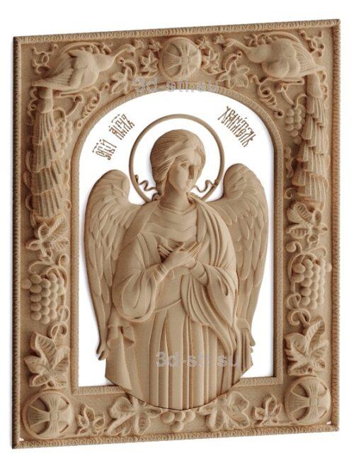 stl модель-Икона Ангел Хранитель
