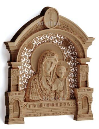 stl модель-Икона Божья Матерь