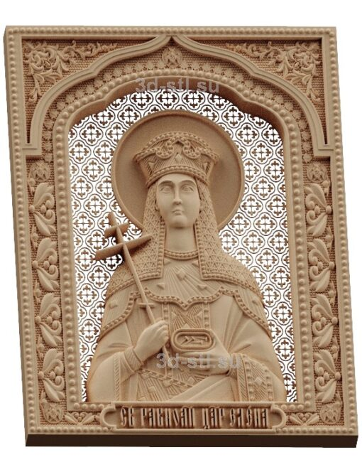 stl модель-Икона Св. царица Елена