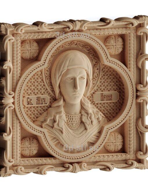 stl модель-Икона Св. Ирина