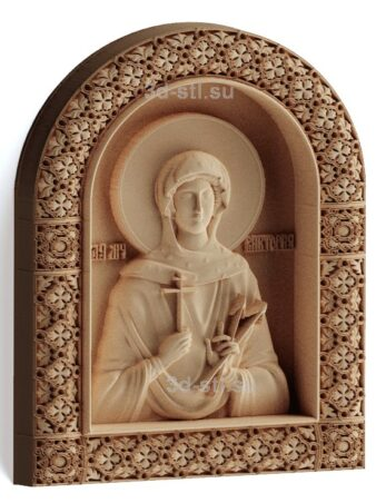 stl модель-Икона Св. Виктория