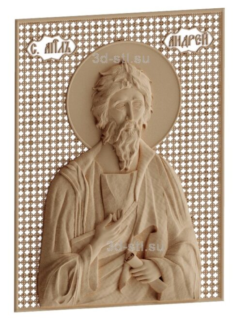 stl модель-Икона Апостол Андрей Первозванный